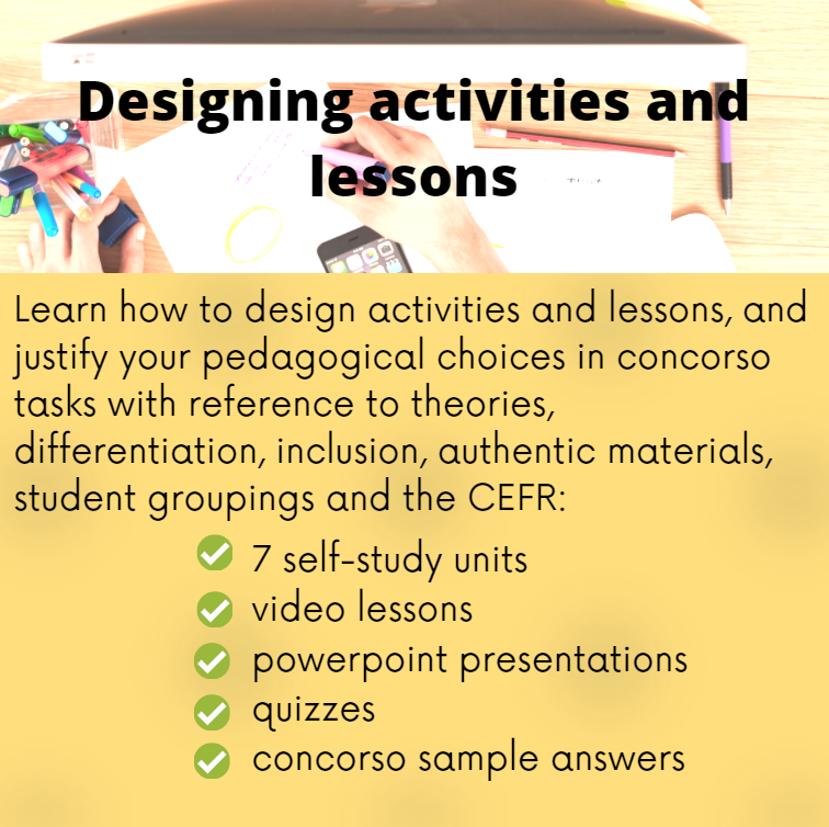 designing activities and lessons