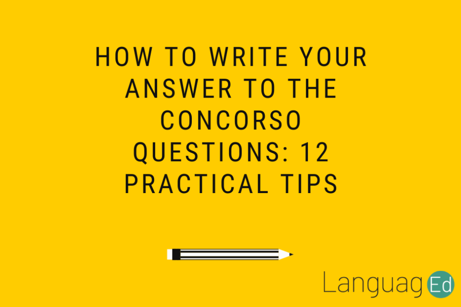 how to write your answer